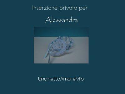 Scatoline tonde ad uncinetto - Inserzione privata per Alessandra
