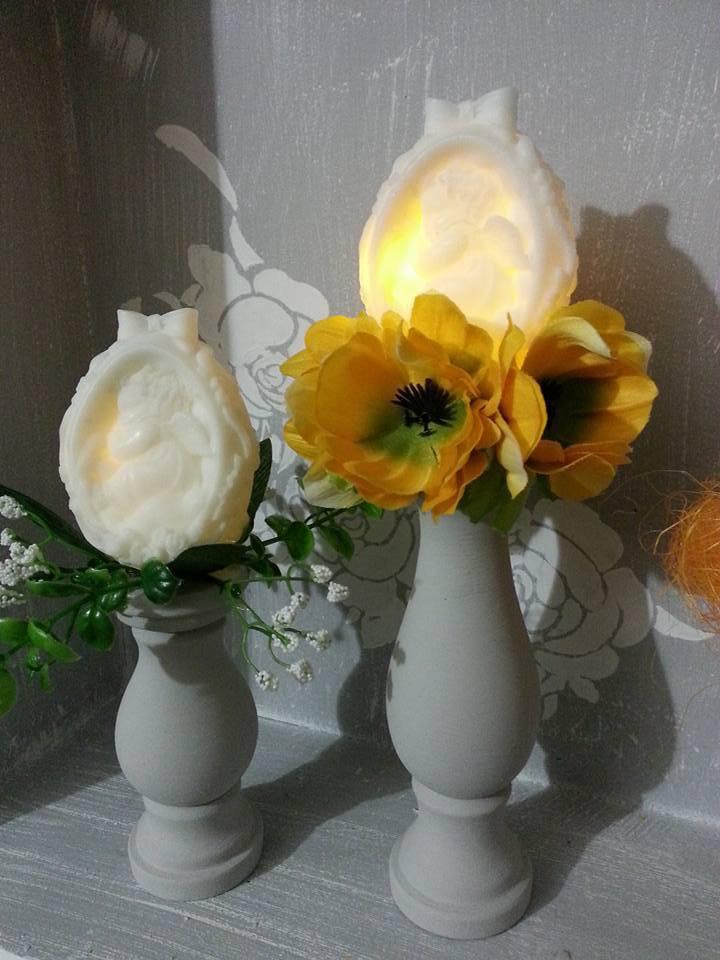 Candeliere Porta uovo di Pasqua  - Alto 16 cm