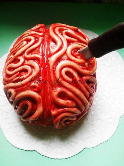 cake topper cervello umano in fimo