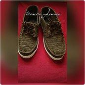scarpe ad uncinetto con suole in gomma misure grandi