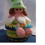 Fatina Portaoggetti in lana all'uncinetto