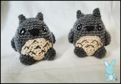Totoro amigurumi portachiavi