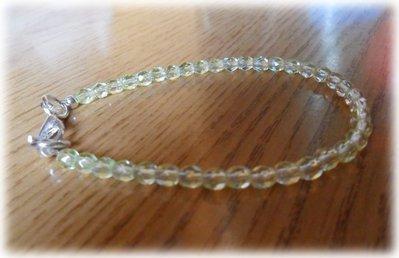 Bracciale perline giallo chiare e trasparenti
