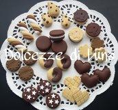 (cod 101 bis)lotto stock 30 biscotti in fimo fatti a mano per decorare cornici,scatole,portafoto