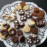 (cod. 101 )lotto stock 30 biscotti in fimo fatti a mano per decorare cornici,scatole,portafoto