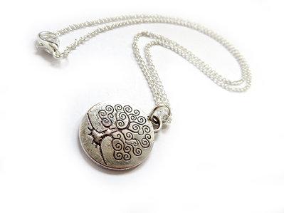 Collana con ciondolo Albero della vita EDEN in metallo tibetano da uomo o donna colore argento