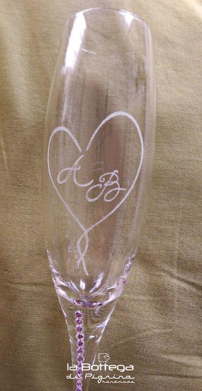 Coppia Flute Da Champagne Personalizzati Per Gli Sposi