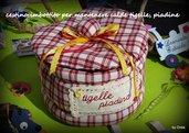 cestino imbottito per pane, tigelle, piadine e brioches bellissimo da regalare