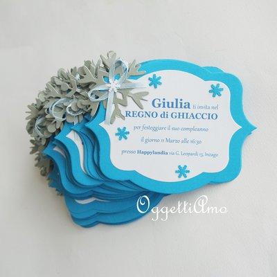 10 Inviti con cristalli di neve per la sua festa di compleanno a tema Frozen