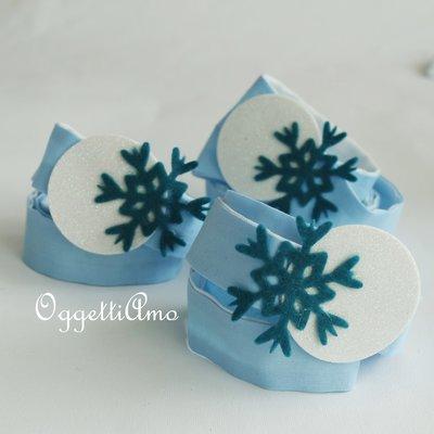 Fascia per capelli con cristalli di neve come gadget per la sua festa a tema Frozen