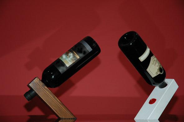 Portabottiglie di vino in legno a sospensione