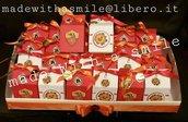scatolina portaconfetti portachiavi squadra del cuore personalizzato comunione cresima battesimo compleanno laurea