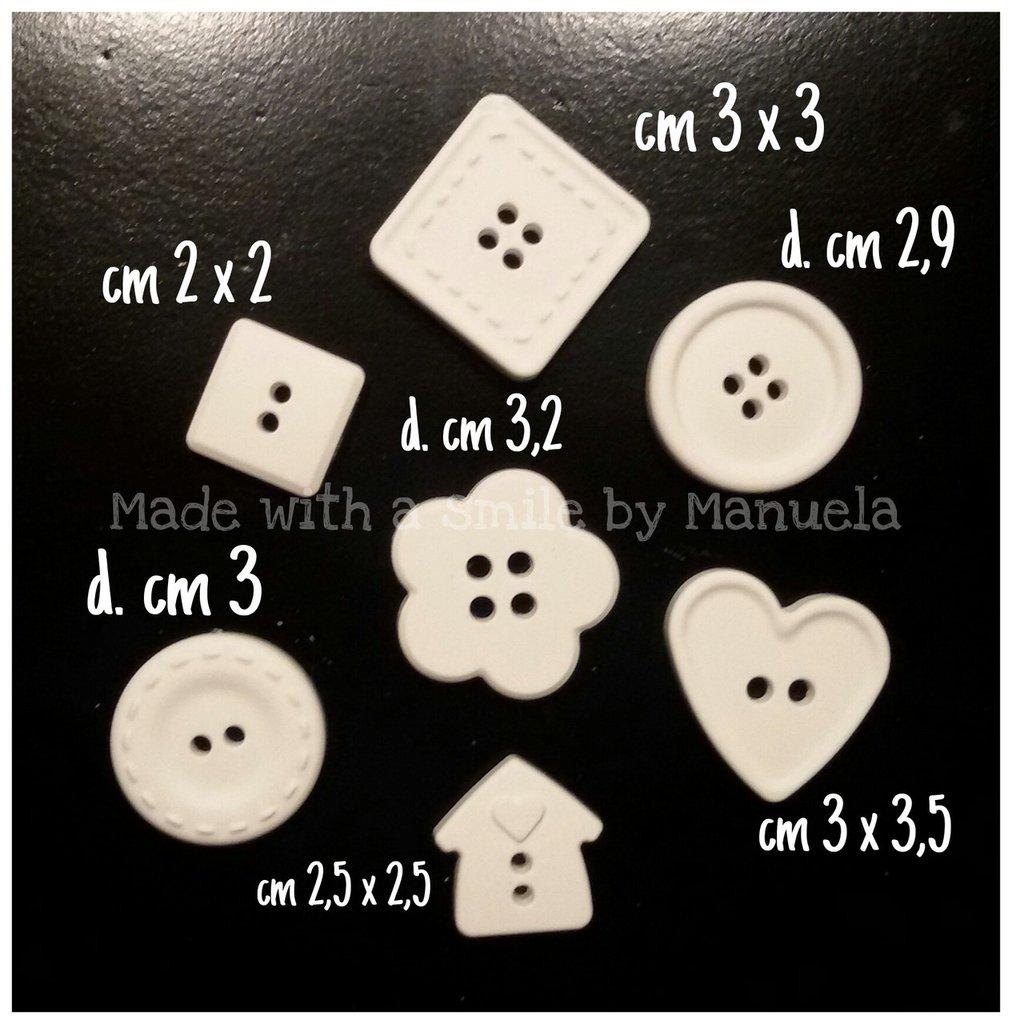gessetti decorativi polvere di ceramica ideali per bomboniere bottoni