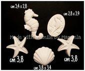 gessetti decorativi polvere di ceramica ideali per bomboniere stella marina cavalluccio