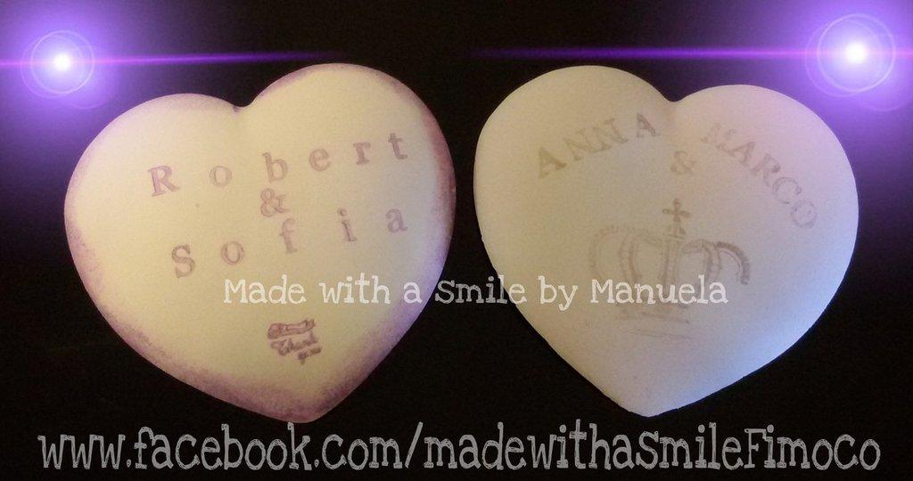 gessetti decorativi polvere di ceramica ideali per bomboniere cuore segnaposto