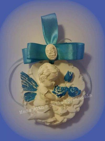 gessetti decorativi polvere di ceramica ideali per bomboniere segnaposto angelo