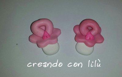 inserzione riservata Maria Grazia le mie perle 90 ciondoli fimo piedini ciuccio biberon rosa