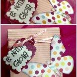 Bomboniera nascita/ battesimo/ compleanno con farfalla, nastro e tag personalizzato