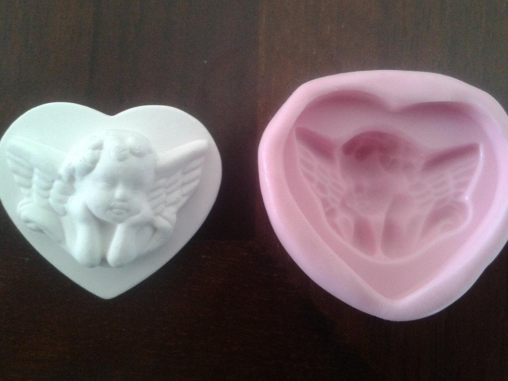 Stampo cuore con angelo