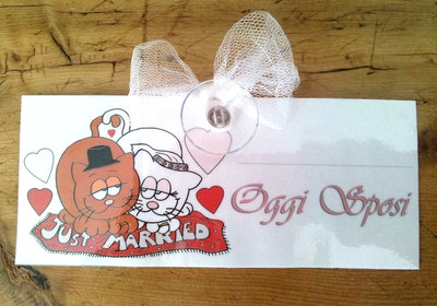 targhetta per auto -sposi