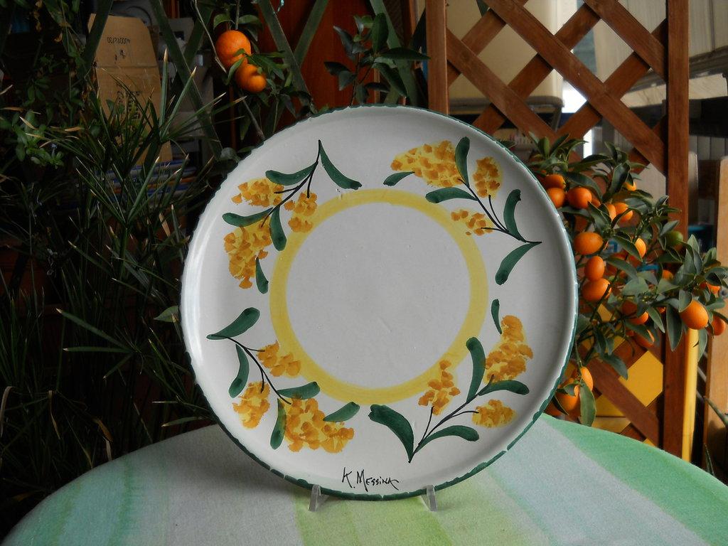 Piatto rotondo in ceramica per la casa e per te cucina - Piatti per la casa ...