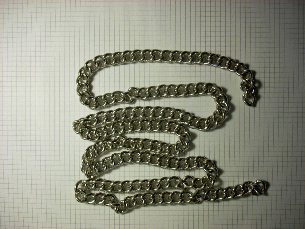 1 metro di catena grossa argento