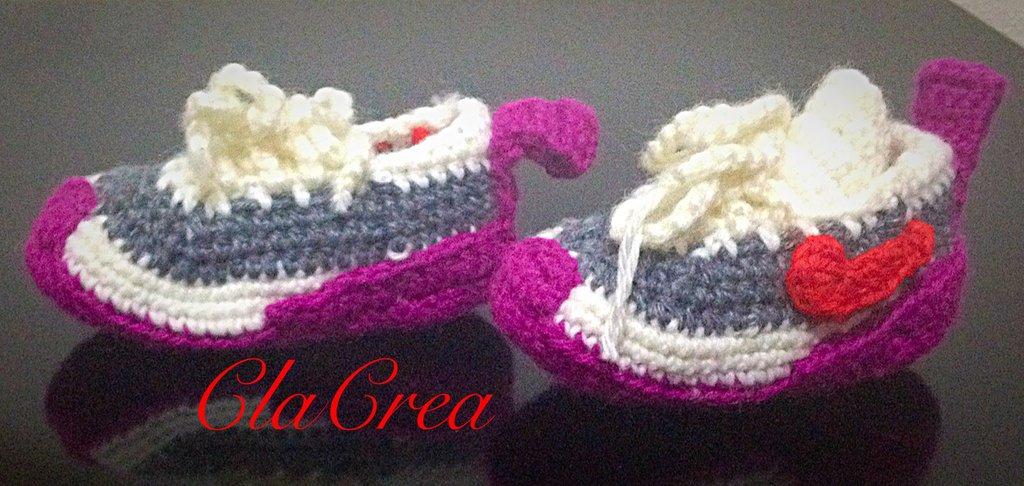 Babbucce neonato tipo Nike