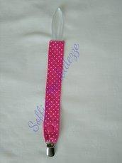 Portaciuccio rosa  in stoffa fatto a mano