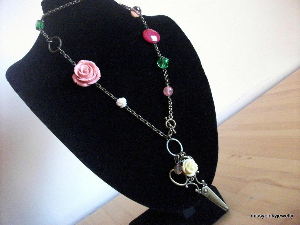 "Collana ""Scissors Flower"" bronzo"