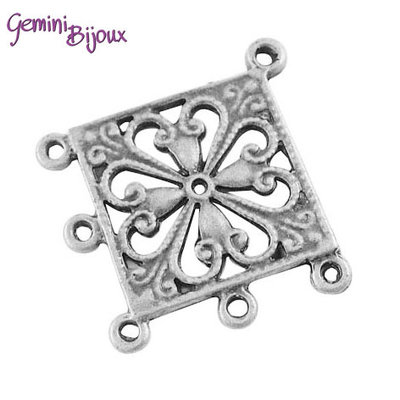 Lotto 2 chandelier argento tibetano mm. 37x34, CH41