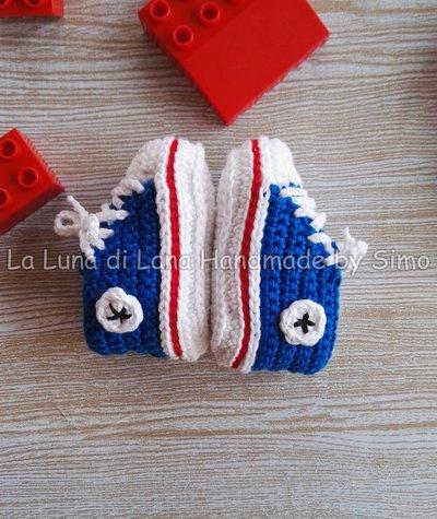 Scarpine Uncinetto Neonato Converse All Star Bambini Abbiglia