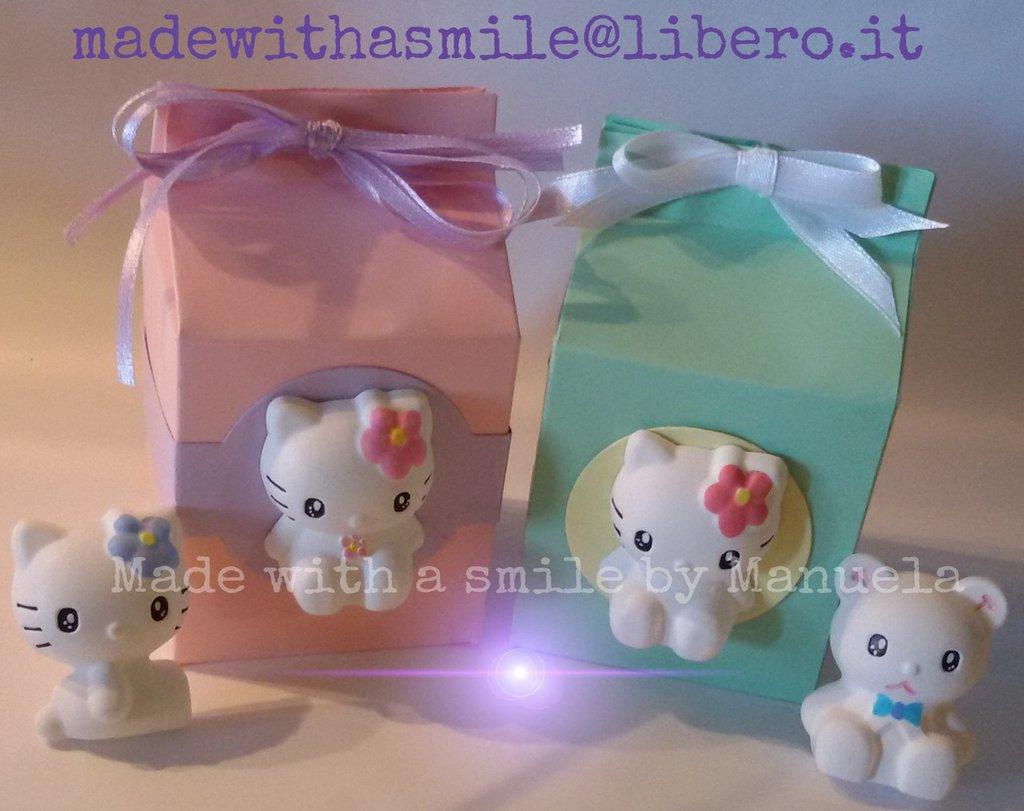 bomboniera scatolina con gessetto profumato compleanno party comunione battesimo nascita