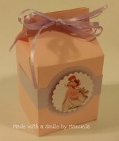 scatolina porta caramelle festa party a tema principesse supereroi