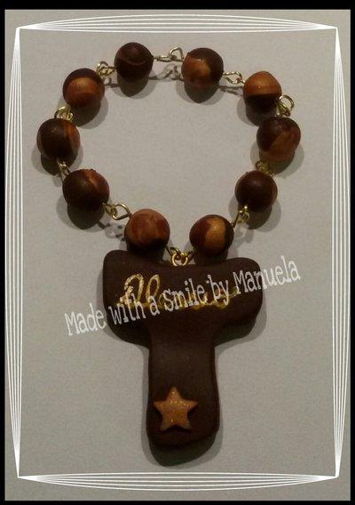 rosario realizzato a mano in pasta polimerica bomboniera cresima comunione
