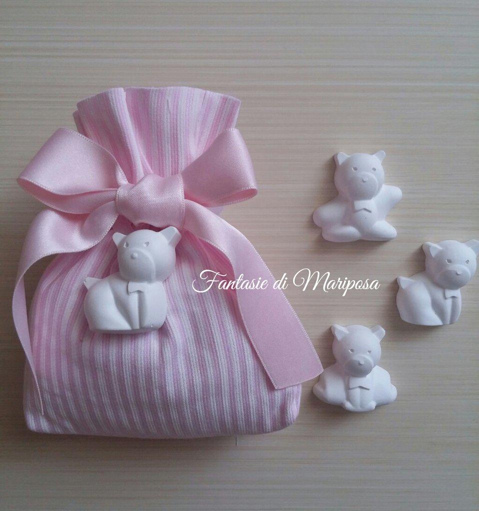 Sacchetto portaconfetti - Bomboniera per nascita,battesimo,comunione,compleanno