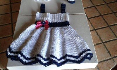 Vestito di cotone neonata