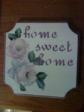 """Quadretto """"home sweet home"""""""