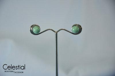 Orecchini a perno perla - Jade