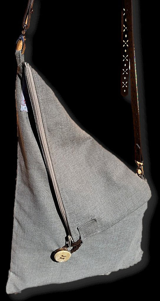 Borsa Tracolla Messenger in canvas Talpa