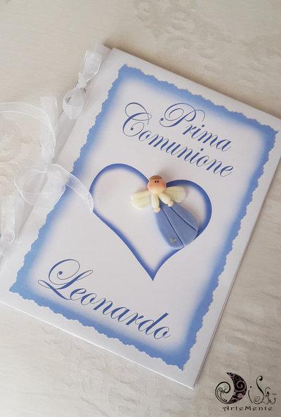 Album comunione e cresima guestbook angioletto personalizzabile con nome