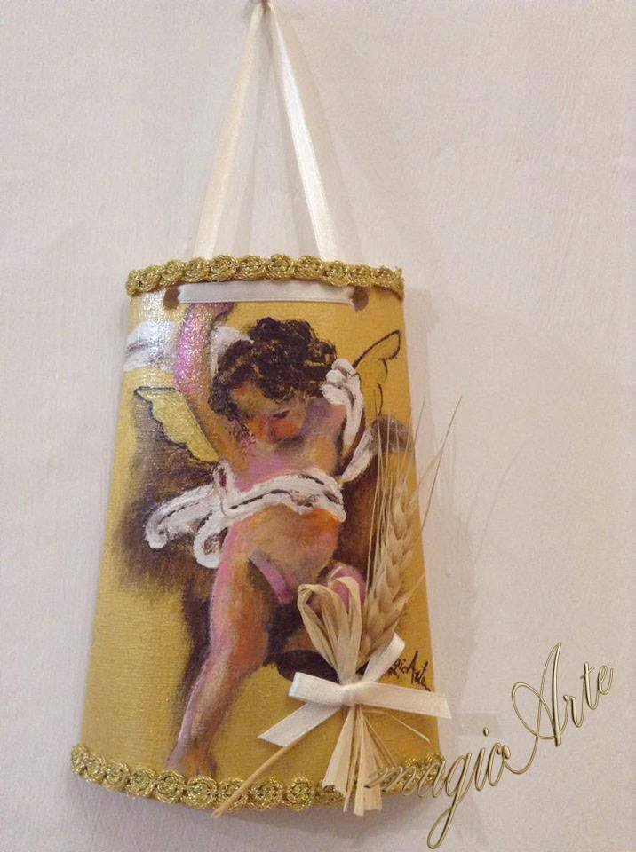 Tegole artigianali angeli /idea regalo/bomboniere