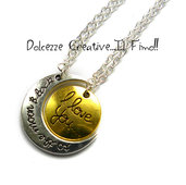 Doppia collana - Idea regalo Fidanzamento - Regalo ragazza - Luna - I love you to the moon and back