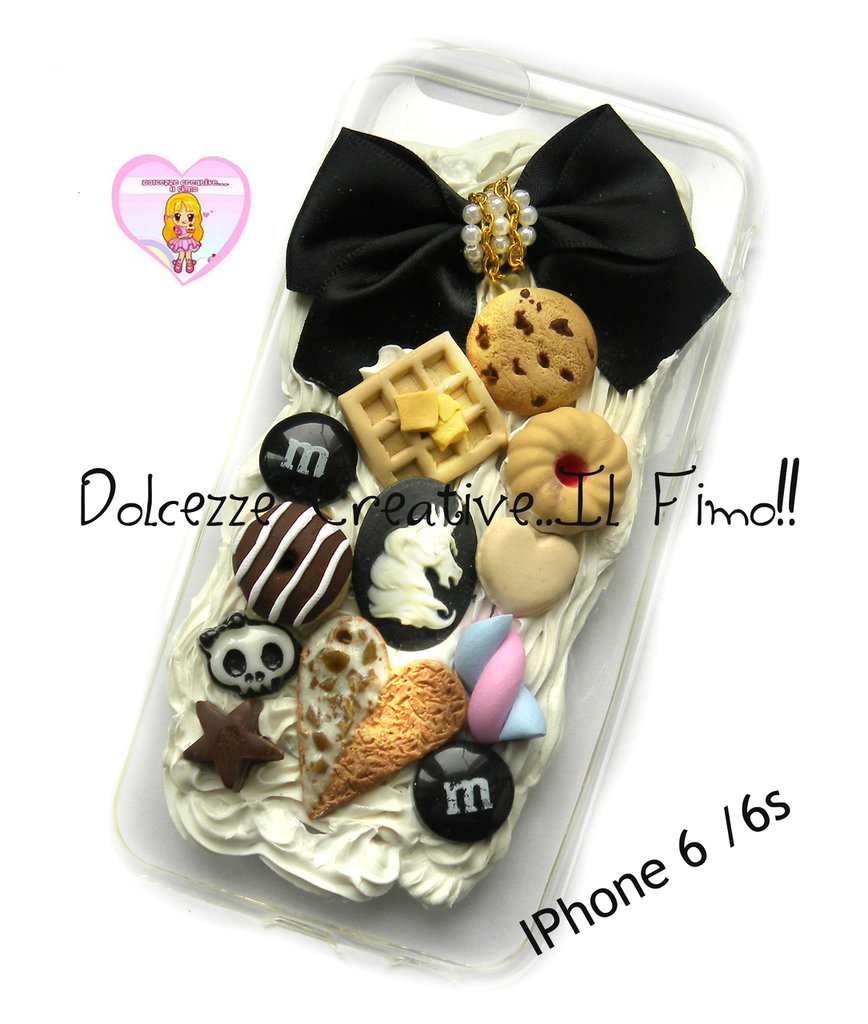 Cover IPhone 6/6s FLESSIBILE Caramelle, coccolato goth , pastel goth, dark