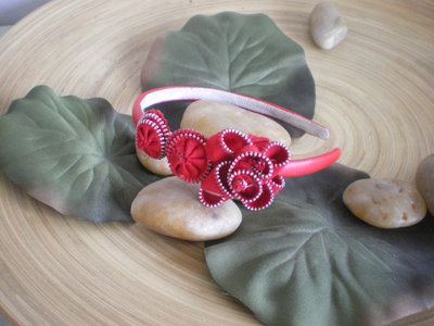 Red zipper hairband - cerchietto