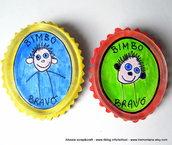 Distintivo dei bimbi buoni giallo e azzurro