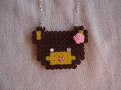 Collana con orsetto hama beads