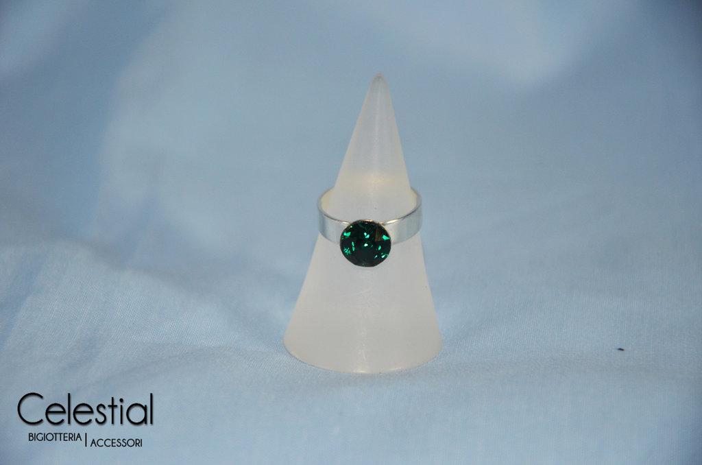 Anello Chaton - Emerald