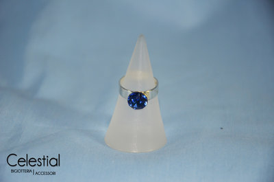 Anello Chaton - Sapphire
