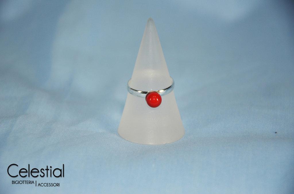 Anello perla - Coral