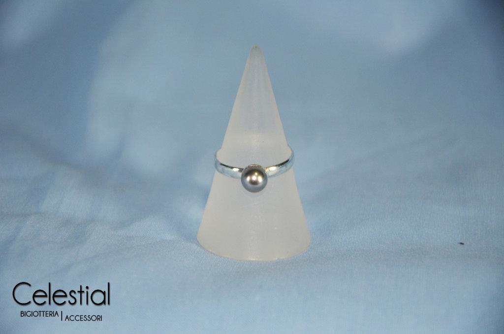 Anello perla - Light Grey
